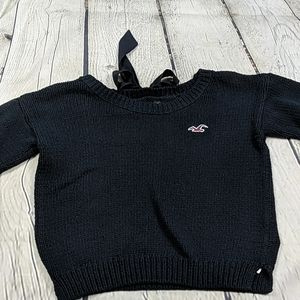 Hollister crop sweater with bow